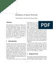 Simulation of Sensor Networks