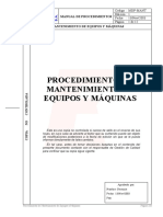 038 Procedimiento Mantenimiento Equipos Maquinas