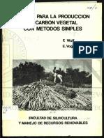Manual para la producción de carbón vegetal con métodos simples
