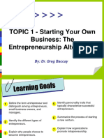 Topic 1 Starting Your Business.ppt
