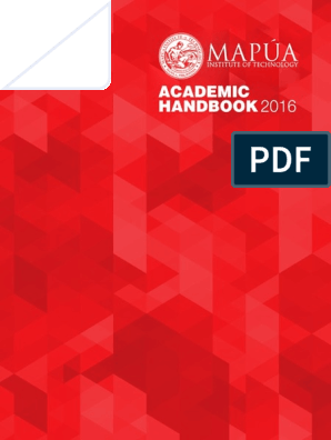 MAPUA UNIVERSITY Academic Handbook | Academia | Science And