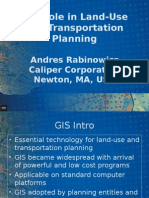GIS Role in Land-Use and Transportation Planning