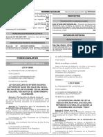 Ley que eleva a rango de Ley la Resolución Jefatural que declara Patrimonio Cultural de la Nación la denominación de origen Pisco