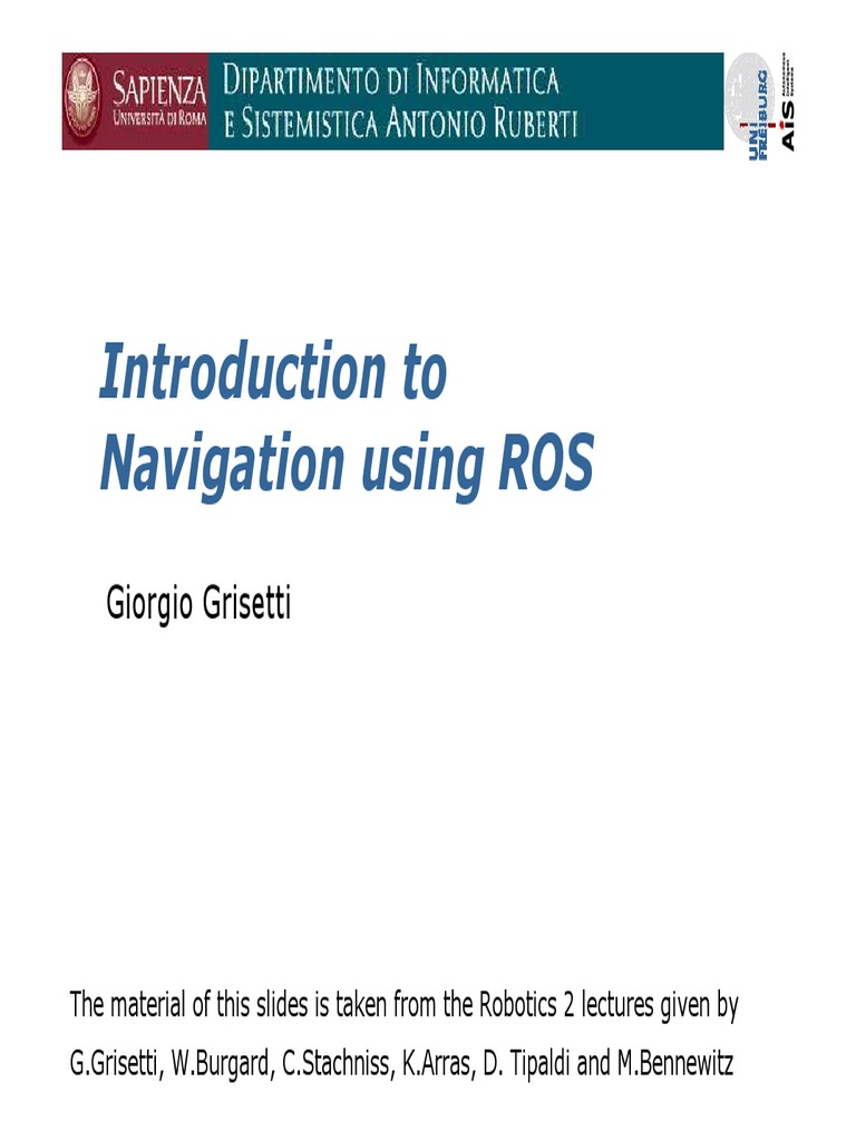 robot-programming-ROS-introduction-to-navigation pdf | Areas