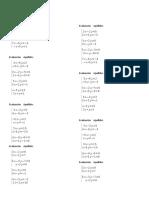 Evaluación de sistemas de ecuaciones