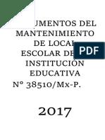 DOCUMENTOS DEL MANTENIMIENTO DE LOCAL ESCOLAR DE LA INSTITUCIÓN EDUCATIVA.docx