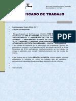 Certificado de Trabajo Noe Mendoza