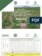 Boletín Agrometeorológico correspondiente a la Primera Decena del Mes de Agosto Nº 1163-Altiplano