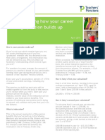 Career Average Pension Build Factsheet