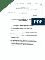 Perkovic Defense and Counterclaim