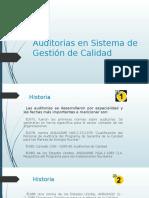 Auditorias en Sistema de Gestión de Calidad