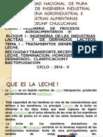 Ingenieria de Procesos Agroalimentarios III Capitulo 1 La Leche La Recogida y El Transporte