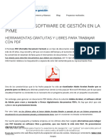 Herramientas Gratuitas y Libres Para Tr...Log Del Software de Gestión en La PYME