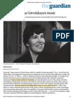 A guide to Galina Ustvolskaya's music | Music | The Guardian
