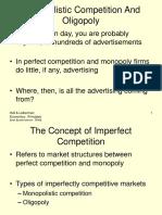 Oligopoly and Monopolistic Market