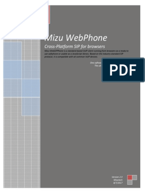 Webphone Documentation | Java Script | Session Initiation Protocol