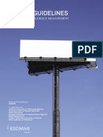 Global Guidelines on Out-Of-home Audience Measurement
