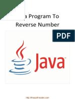 Java Program to Reverse Number