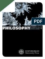 Edinburgh Philosophy 2015 - Catálogo