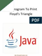 Java Program to Print Floyd's Triangle