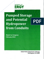 DOE - Pumped Storage and Potential Hydropower From Conduits