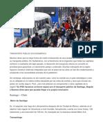 Transporte Público en Sudamérica