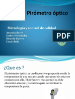Pirómetro Óptico Expo