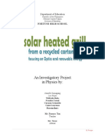 Investigatory Project in Physics Focusing on Optics and Renewable Energy Fortune High School