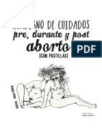Cuaderno de Cuidados Pre Durante y Post Aborto Con Pastillas