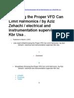 Choosing the Proper VFD Can Limit Harmonics