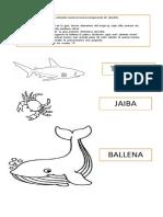 Tarea Animales Marino Comparacion Tamaños. Vocal a,