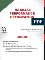 Database Performance Optimization. Andrey Avtomonov