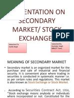 Presentation on Secondary Market