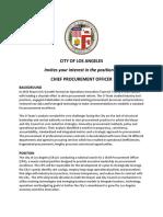 LA Chief Procurement Officer