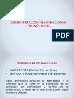 4.- Control de Operaciones - Pronosticos.