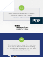 Using Instructional Interactivity