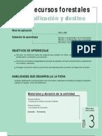 Ficha Nº 3 recursos forestales clasificacion y destino