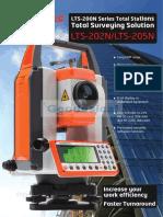 Linertec Catalogo Estacion Total Serie LTS 200N En