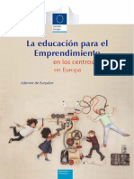 Informe Eurydice, Europa, Emprendimiento