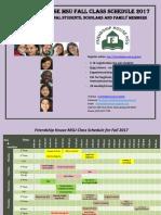 2017 Fall Class Schedule