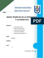 Bases Teoricas de La Pedagogia y La Didactica