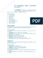 CLASES DE PALABRAS PARA ANALISIS MORFOSINTACTICO.doc