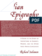 Indian Epigraphy, Richard Salomon