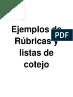 Ejemplos de Rubricas y listas de cotejo.pdf