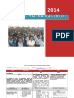 Malla Matematicas Ciclo 1