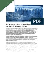 La Argentina tiene el segundo reservorio de agua de América del Sur.docx