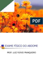 EXAME FÍSICO DO ABDOME