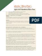 Plan Estratégico de Panadería Rico Pan