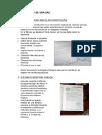 Pasos Para La Formalizacion de La SAC