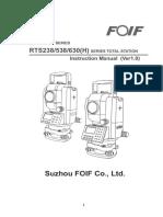 RTSOTS238 538 630(H) Series User Manual (V1.0e)